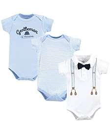 Baby Cotton Bodysuits, 3 Pack