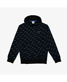 Lacoste Men's L!Ve Allover Logo Sweatshirt