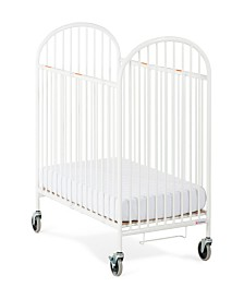 Pinnacle Folding Compact Steel Crib with Innerspring Mattress