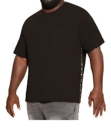MVP Collections Big and Tall Studded Side Pocket Tee