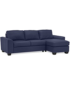 Alloa 2-Pc. Leather Sectional Sofa