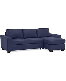 Alloa 2-Pc. Leather Sectional Sofa