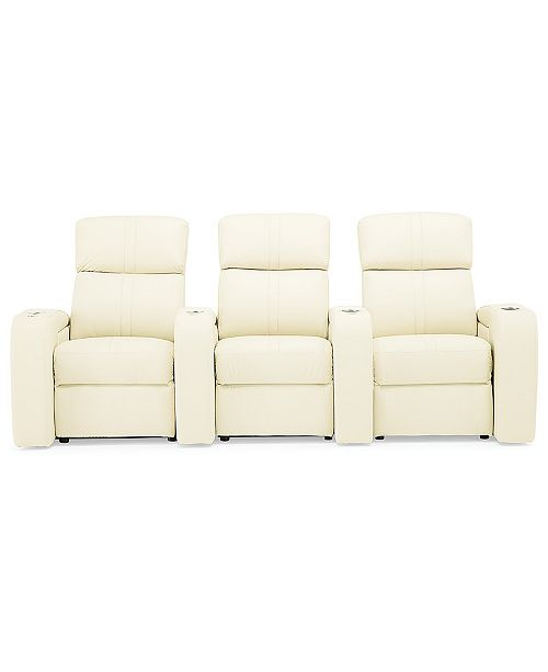 Furniture Perison 3-Pc. Leather Theater Sectional Sofa