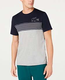 Lacoste Men's Colorblocked Pajama Top, Created for Macy's