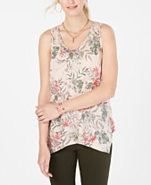 e4ee5287a84 Style & Co Printed Scoop-Neck Swing Top, Created for Macy's