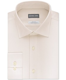 Men's Slim-Fit Non-Iron Airsoft Stretch Performance Solid Dress Shirt
