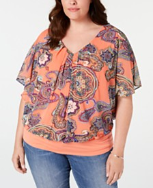 NY Collection Plus Size Printed Top