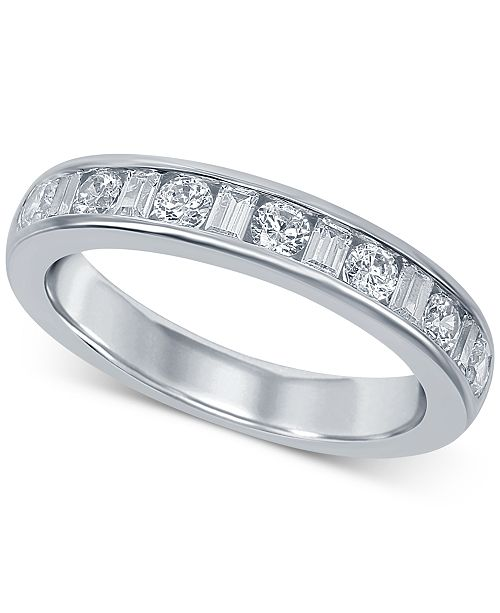 Macy's Diamond Channel-Set Band (5/8 ct. t.w.) in 14k White Gold