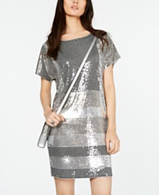 Michael Michael Kors Sequined Striped Dress