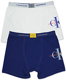 Calvin Klein Big Boys 2-Pack Logo Boxer Briefs