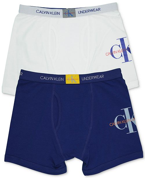 112de7877ee5 Calvin Klein Big Boys 2-Pack Logo Boxer Briefs. Macy's / Kids / Underwear &  Socks