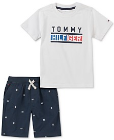 Tommy Hilfiger Baby Boys 2-Pc. Cotton Logo T-Shirt & Shorts Set