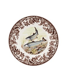 Spode Woodland King Salmon Salad Plate