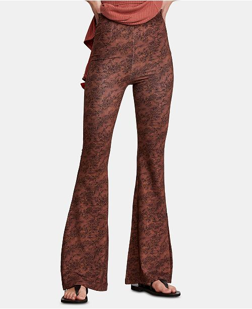 Free People Harper Printed Pull-On Pants