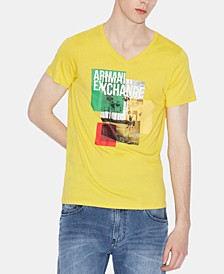Men's Palm-Tree Logo Graphic T-Shirt