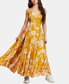 Free People Lille Printed Tie-Back Maxi Dress