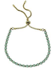 Aqua Chalcedony Bolo Bracelet (Also in Onyx)
