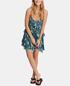 a35f89ad782a Free People Sunlit Printed Ruffled Mini Dress