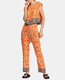 Free People Make My Day Printed Border-Trim Set