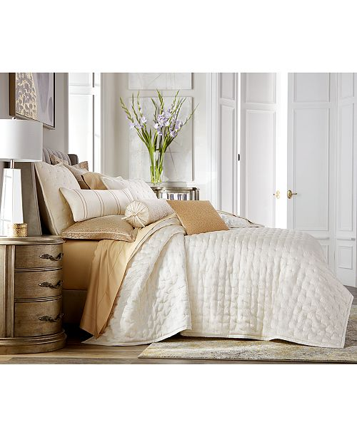 Hotel Collection Classic Ombré Leopard Full/Queen Coverlet, Created for Macy's