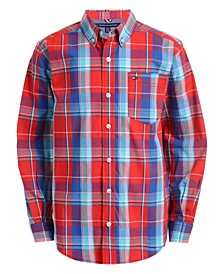 Toddler Boys Brady Stretch Plaid Shirt
