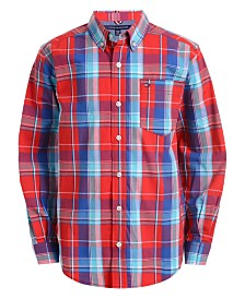 Tommy Hilfiger Little Boys Brady Stretch Plaid Shirt