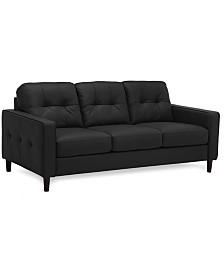 """Tartu 75"""" Leather Sofa"""