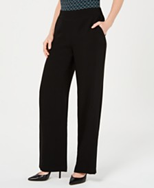 Nine West Elastic-Waist Pull-On Pants