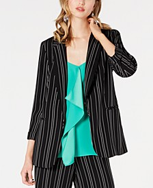 Striped Open-Notch Collar Jacket, Created for Macy's