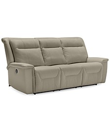 "Kolbrooke 86.6"" Leather Power Recliner Sofa"