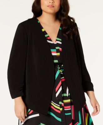 Plus Size Open-Front Jacket, Created for Macy's