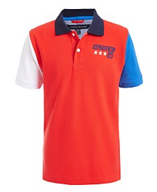 Tommy Hilfiger Big Boys Tito Colorblocked Logo-Print Piqué Polo Shirt