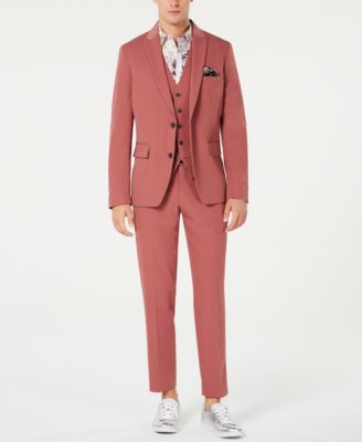 INC Men's Slim-Fit Dusty Red Blazer, Created for Macy's