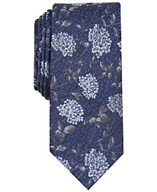 Bar III Men's Hydrangea Skinny Floral Tie, Created for Macy's