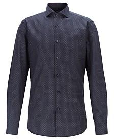 BOSS Men's Jason Slim-Fit Dot-Print Cotton Shirt