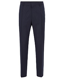 BOSS Men's Paco-WG Cropped Relaxed-Fit Seersucker Trousers