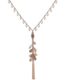 "lonna & lilly Beaded Long Lariat Necklace, 30"" + 3"" extender"