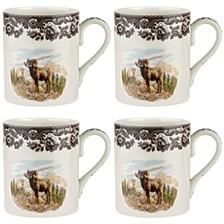 Woodland Bighorn Sheep Mug Set/4