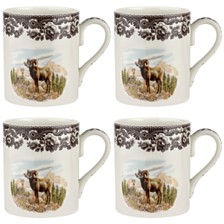 Spode Woodland Bighorn Sheep Mug Set/4