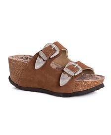 Muk Luks Women's Averi Wedge Sandals