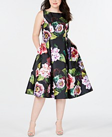 Plus Size Tea-Length Dress