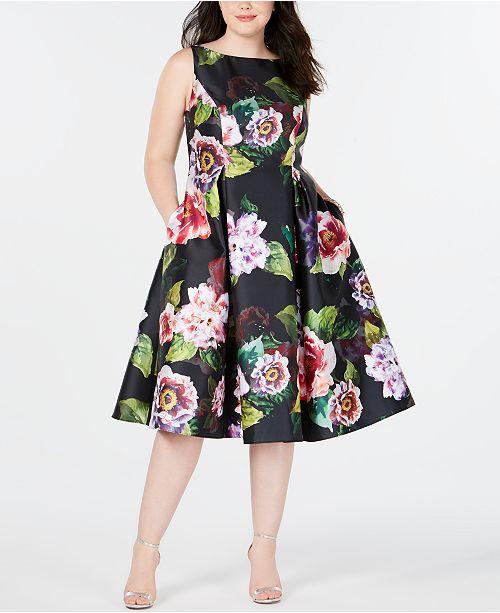 Plus Size Tea-Length Dress