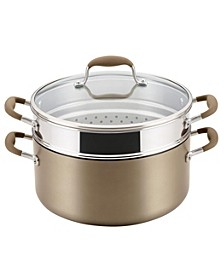 Advanced Home Hard-Anodized Nonstick 8.5-Qt. Wide Stockpot with Multi-Function Insert