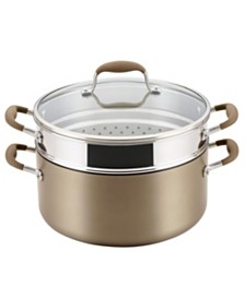 Anolon Advanced Home Hard-Anodized Nonstick 8.5-Qt. Wide Stockpot with Multi-Function Insert