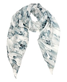Laundry by Shelli Segal Rose Mood Silk Oblong Scarf