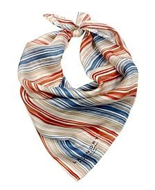 Stripe Silk Square Scarf