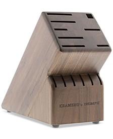 Kramer by Zwilling 14-Slot Walnut Knife Block
