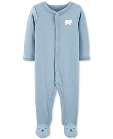 Baby Boys Polar Bear Footed Pajamas