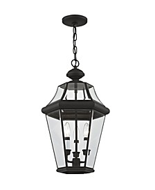 CLOSEOUT!   Georgetown 3-Light Outdoor Chain Lantern