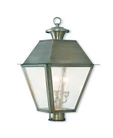 Livex Mansfield 3-Light Outdoor Post Lantern